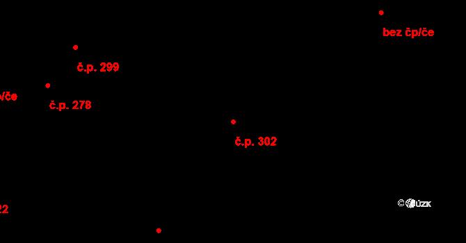 Povel 302, Olomouc na parcele st. 332 v KÚ Povel, Katastrální mapa