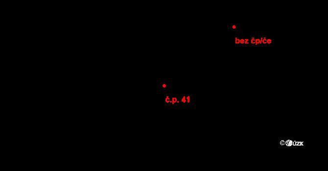 Ludvíkov pod Smrkem 41, Nové Město pod Smrkem na parcele st. 251/1 v KÚ Ludvíkov pod Smrkem, Katastrální mapa
