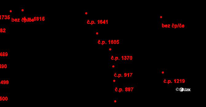 Šlapanice 1370 na parcele st. 1721/2 v KÚ Šlapanice u Brna, Katastrální mapa