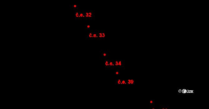 Děhylov 34 na parcele st. 682 v KÚ Děhylov, Katastrální mapa