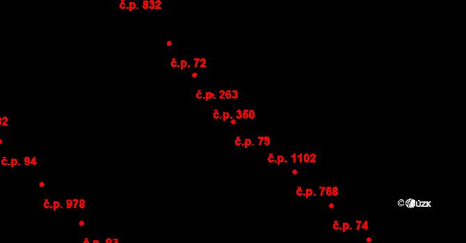 Nivnice 73 na parcele st. 1006 v KÚ Nivnice, Katastrální mapa