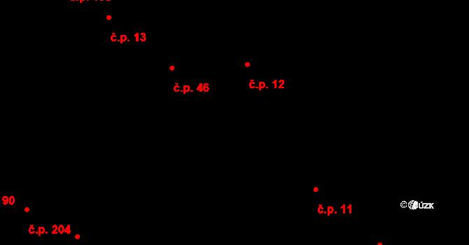 Nová Ves 12 na parcele st. 49 v KÚ Nová Ves u Oslavan, Katastrální mapa