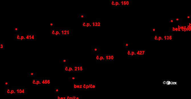 Prštné 130, Zlín na parcele st. 197 v KÚ Prštné, Katastrální mapa