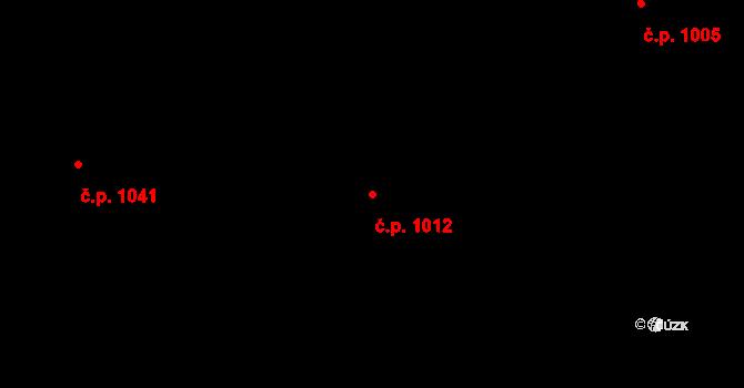 Stonava 1012 na parcele st. 856 v KÚ Stonava, Katastrální mapa
