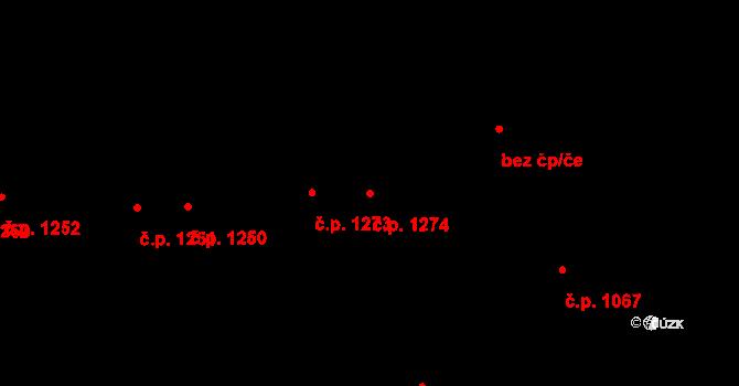 Liberec VI-Rochlice 1274, Liberec na parcele st. 1566/26 v KÚ Rochlice u Liberce, Katastrální mapa