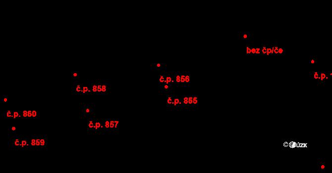 Švermov 855, Kladno na parcele st. 631 v KÚ Hnidousy, Katastrální mapa