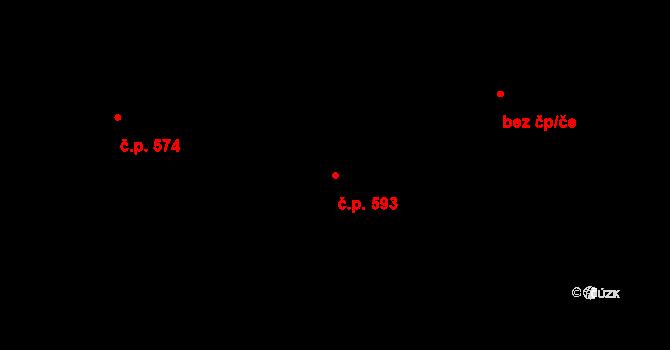 Mladcová 593, Zlín na parcele st. 1044 v KÚ Mladcová, Katastrální mapa