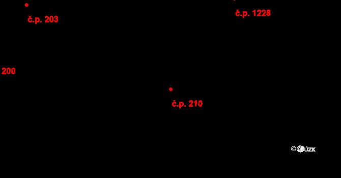 Mladá Boleslav II 210, Mladá Boleslav na parcele st. 3684 v KÚ Mladá Boleslav, Katastrální mapa