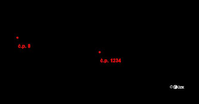 Radvanice 1234, Ostrava na parcele st. 696/3 v KÚ Radvanice, Katastrální mapa