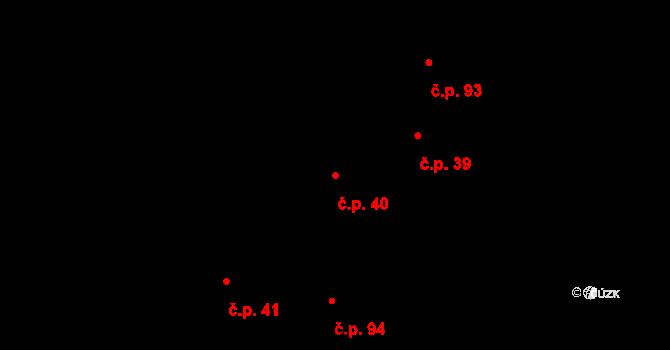 Děhylov 40 na parcele st. 51/1 v KÚ Děhylov, Katastrální mapa