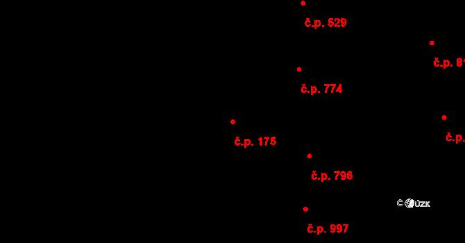 Nivnice 175 na parcele st. 1800/2 v KÚ Nivnice, Katastrální mapa