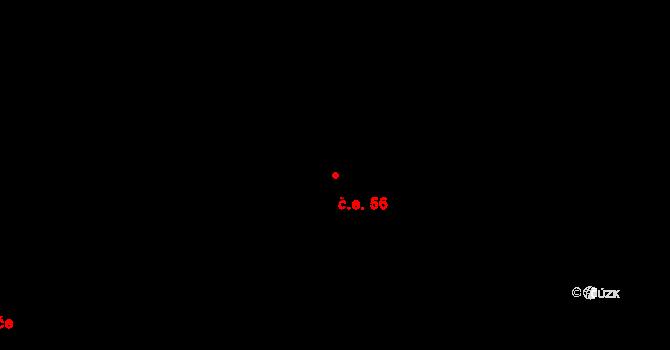 Moravský Beroun 56 na parcele st. 857/28 v KÚ Moravský Beroun, Katastrální mapa