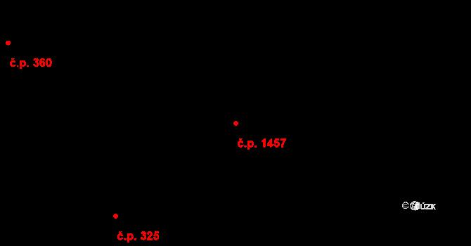 Třešť 1457 na parcele st. 367/4 v KÚ Třešť, Katastrální mapa