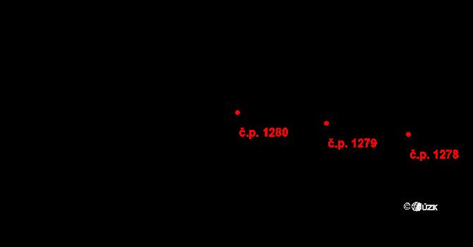 Krč 1280, Praha na parcele st. 2869/41 v KÚ Krč, Katastrální mapa
