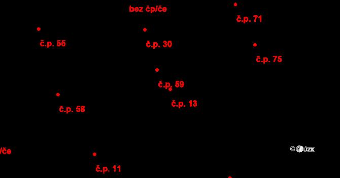 Minice 13, Kralupy nad Vltavou na parcele st. 26 v KÚ Minice u Kralup nad Vltavou, Katastrální mapa