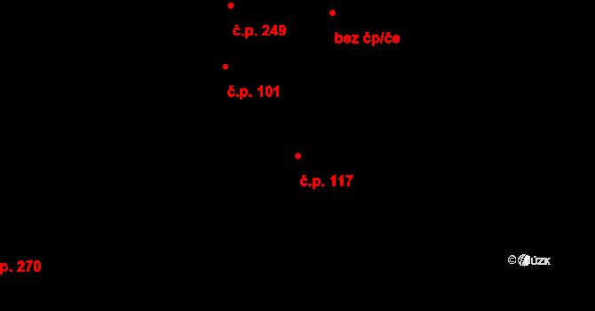 Vážany 117, Kroměříž na parcele st. 604 v KÚ Vážany u Kroměříže, Katastrální mapa