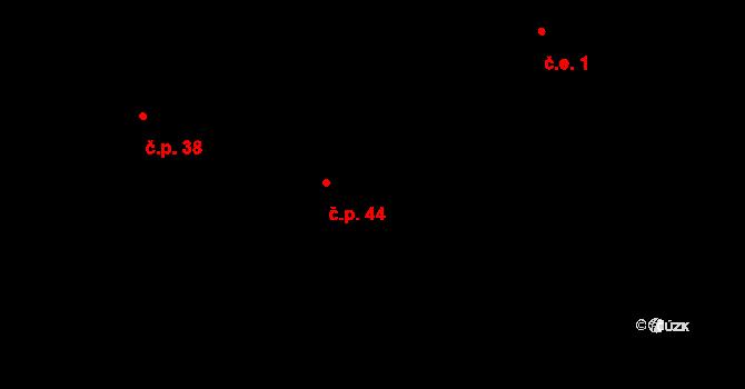 Kosov 44, Jihlava na parcele st. 269/69 v KÚ Kosov u Jihlavy, Katastrální mapa
