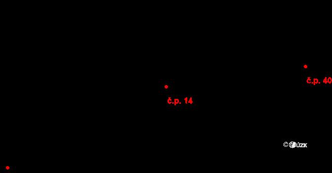 Svatý Jiří 14 na parcele st. 31/1 v KÚ Svatý Jiří, Katastrální mapa