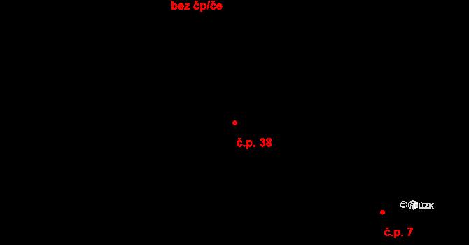 Malá Lhota 38, Velká Lhota na parcele st. 283 v KÚ Malá Lhota u Valašského Meziříčí, Katastrální mapa