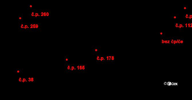 Miřetice u Klášterce nad Ohří 178, Klášterec nad Ohří na parcele st. 756 v KÚ Miřetice u Klášterce nad Ohří, Katastrální mapa