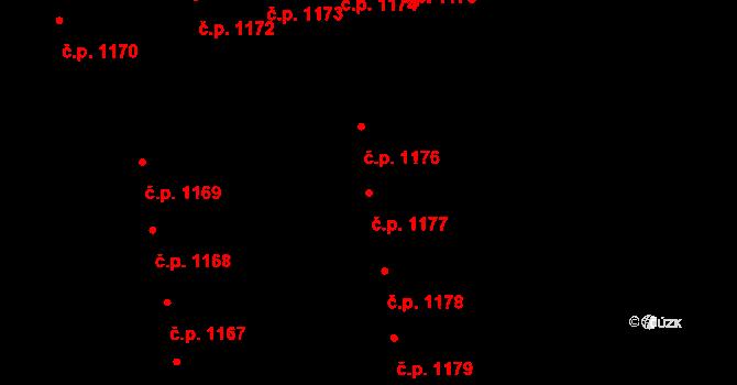 Svítkov 1177, Pardubice na parcele st. 1991 v KÚ Svítkov, Katastrální mapa