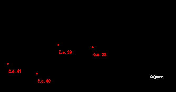 Lhota 38, Vyškov na parcele st. 389/7 v KÚ Lhota, Katastrální mapa