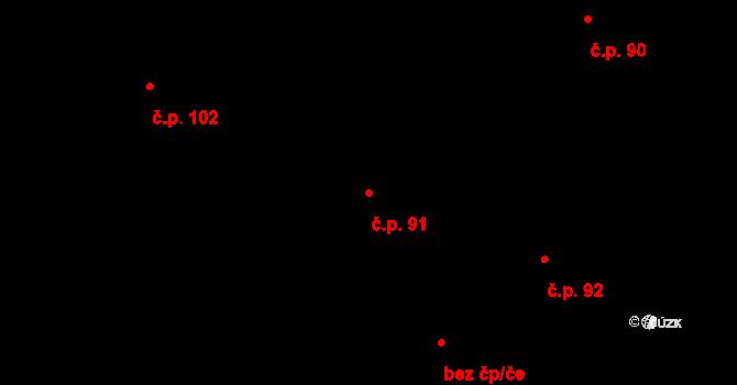 Starý Pelhřimov 91, Pelhřimov na parcele st. 141 v KÚ Starý Pelhřimov, Katastrální mapa