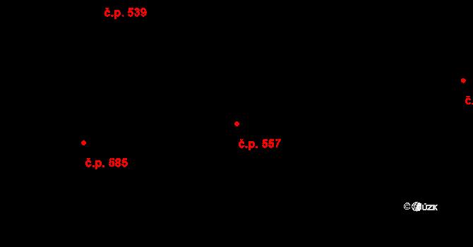 Mladcová 557, Zlín na parcele st. 998 v KÚ Mladcová, Katastrální mapa