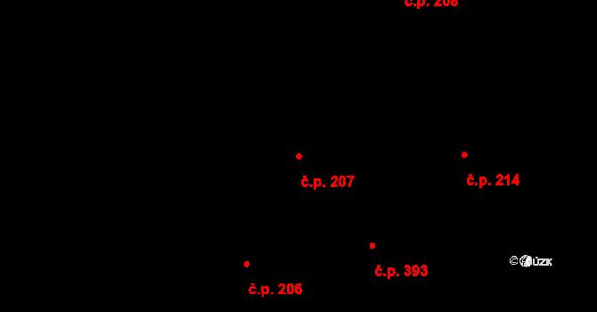 Staré Holice 207, Holice na parcele st. 2620 v KÚ Holice v Čechách, Katastrální mapa