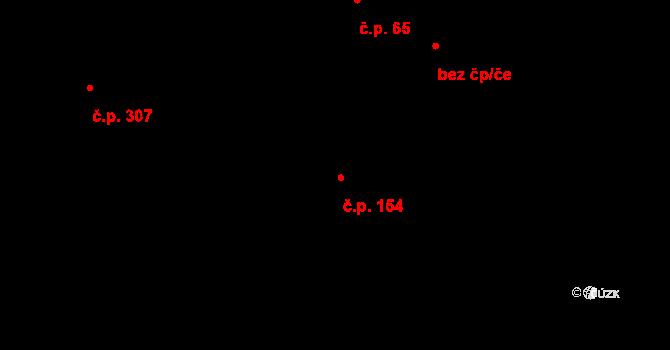 Davle 154 na parcele st. 329 v KÚ Davle, Katastrální mapa