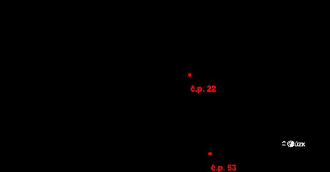 Česká Metuje 22 na parcele st. 36/1 v KÚ Česká Metuje, Katastrální mapa