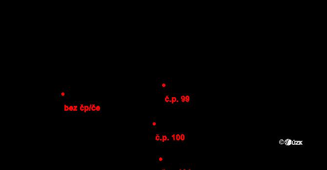 Dobré Pole 99 na parcele st. 469 v KÚ Dobré Pole, Katastrální mapa