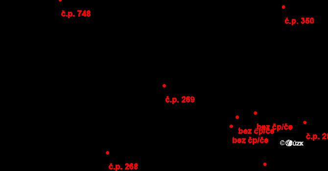 Liberec VI-Rochlice 269, Liberec na parcele st. 1017 v KÚ Rochlice u Liberce, Katastrální mapa