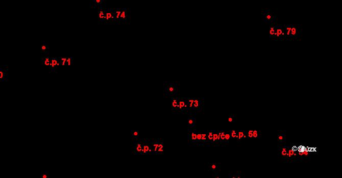 Darkovičky 73, Hlučín na parcele st. 303 v KÚ Darkovičky, Katastrální mapa