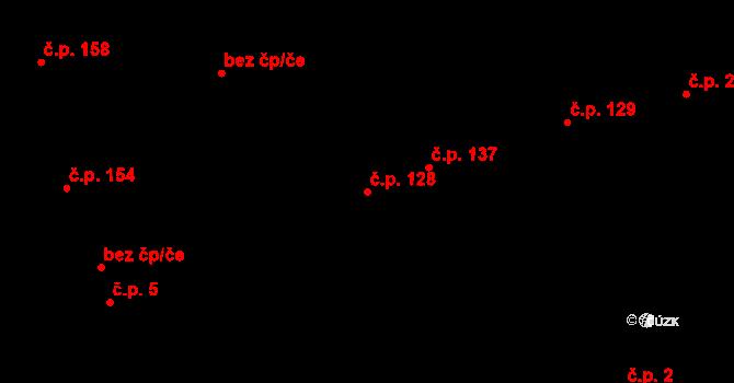 Bratronice 128 na parcele st. 97/2 v KÚ Bratronice u Kladna, Katastrální mapa