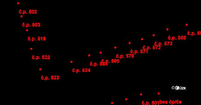 Trnovany 569, Teplice na parcele st. 344 v KÚ Teplice-Trnovany, Katastrální mapa