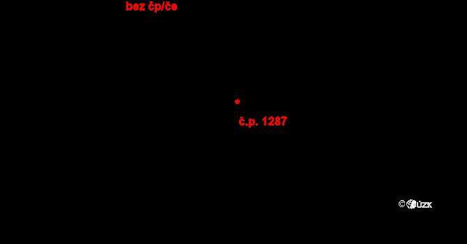 Třešť 1287 na parcele st. 871/19 v KÚ Třešť, Katastrální mapa