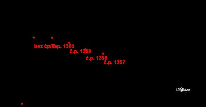 Stará Bělá 1357, Ostrava na parcele st. 1464/11 v KÚ Stará Bělá, Katastrální mapa