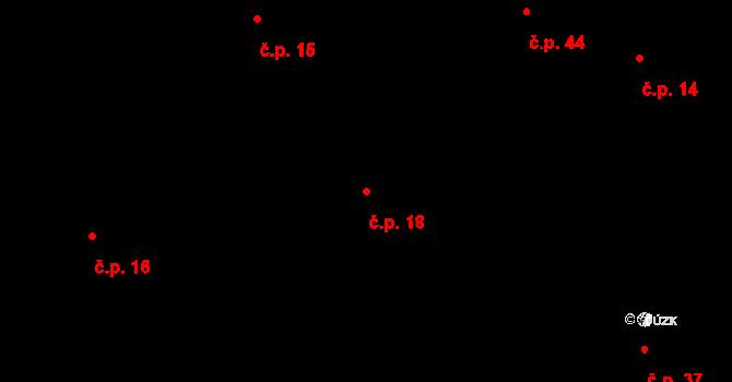 Sedlejov 18 na parcele st. 16/2 v KÚ Sedlejov, Katastrální mapa