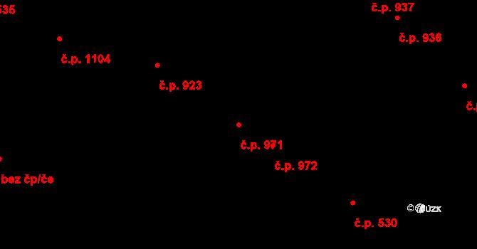 Liberec XIV-Ruprechtice 971, Liberec na parcele st. 422/4 v KÚ Ruprechtice, Katastrální mapa