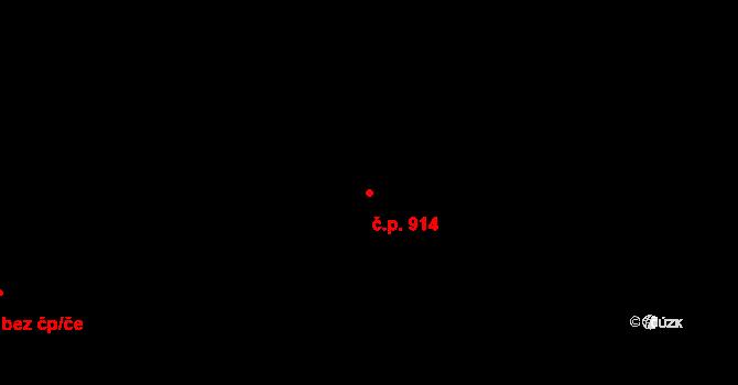 Nový Jičín 914 na parcele st. 1404 v KÚ Nový Jičín-Dolní Předměstí, Katastrální mapa