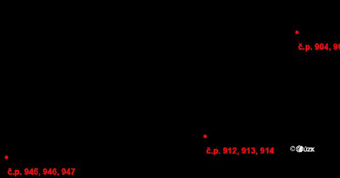 Slatina 912,913,914, Brno na parcele st. 2451 v KÚ Slatina, Katastrální mapa