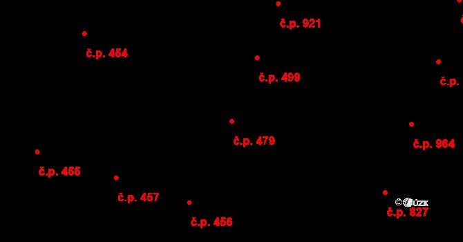 Bubeneč 479, Praha na parcele st. 962 v KÚ Bubeneč, Katastrální mapa