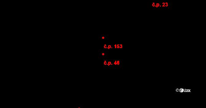 Ostružná 46 na parcele st. 123/1 v KÚ Ostružná, Katastrální mapa