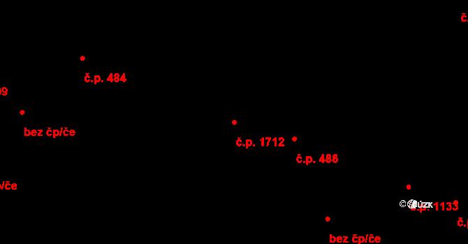 Bílé Předměstí 1712, Pardubice na parcele st. 1772/1 v KÚ Pardubice, Katastrální mapa