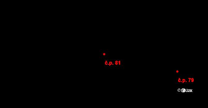 Nové Hraběcí 81, Šluknov na parcele st. 126 v KÚ Nové Hraběcí, Katastrální mapa
