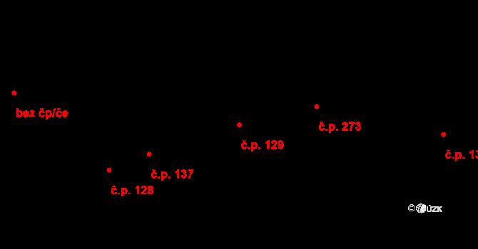 Bratronice 129 na parcele st. 97/3 v KÚ Bratronice u Kladna, Katastrální mapa