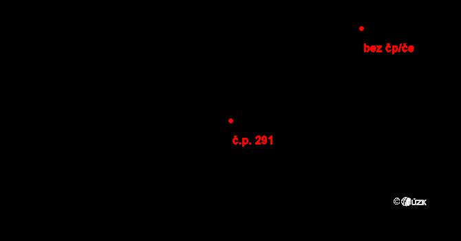 Zelené Předměstí 291, Pardubice na parcele st. 1253 v KÚ Pardubice, Katastrální mapa