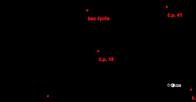 Sedlejov 19 na parcele st. 19 v KÚ Sedlejov, Katastrální mapa