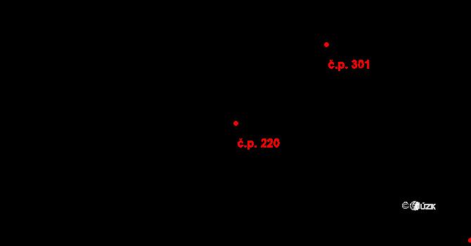 Kudlov 220, Zlín na parcele st. 349 v KÚ Kudlov, Katastrální mapa